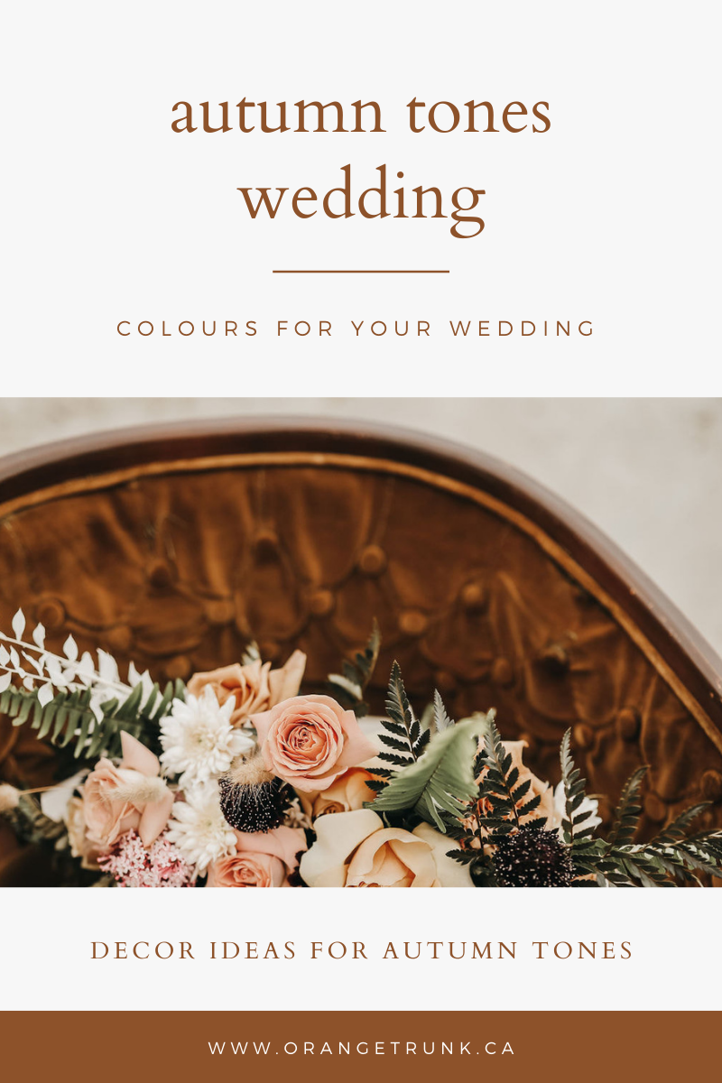 fall colour palettes for wedding decor